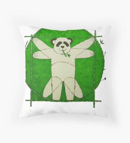 Da Vinci Panda Throw Pillow