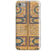 AN EXCEPTIONAL ILLUMINATED QUR'AN BY AHMAD AL-NAYRIZI, WITH FLORAL LACQUERED BINDING, SAFAVID PERSIA, DATED AH  iPhone Case/Skin