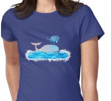 How Whales Have Fun Womens Fitted T-Shirt