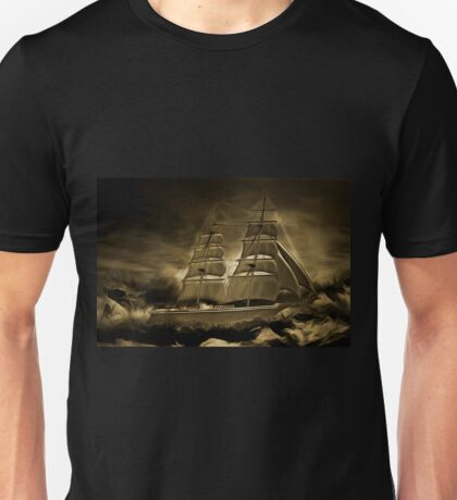 An old style digital painting of an 18th century Sailing Brig Unisex T-Shirt