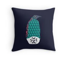 Abstract Penguin Throw Pillow