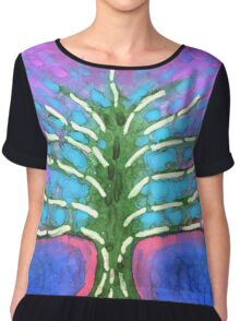 Electric Tree Chiffon Top
