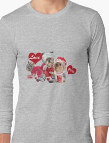 Yorkshire Family In Pajamas  Long Sleeve T-Shirt