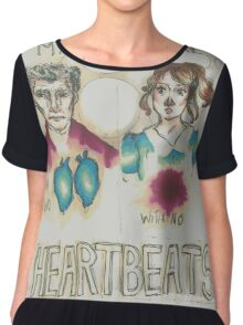 Heartbeats Women's Chiffon Top