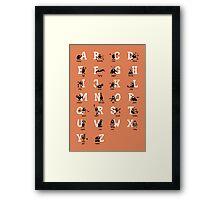 BadaBada - Alphabet / Orange Framed Print