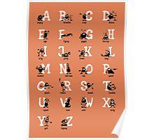BadaBada - Alphabet / Orange Poster