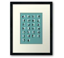 BadaBada - Alphabet / Turquoise Framed Print