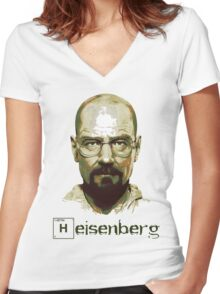 Heisenberg Vector Art Tshirt Women's Fitted V-Neck T-Shirt