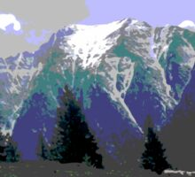 Mountain Landscape Photo Edit Sticker