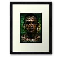 Frankie Edgar, The Answer (Superimposed) Framed Print