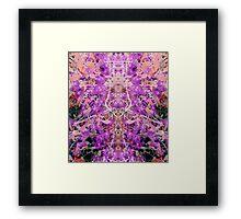 Sudden revelations in purple blossoms Framed Print
