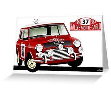 Mini Cooper 1964 Rallye Monte Carlo Greeting Card