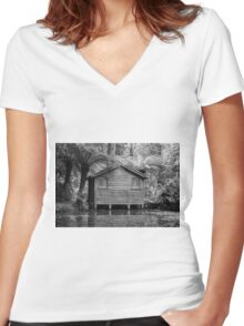 Alfred Nichols Gardens  Women's Fitted V-Neck T-Shirt