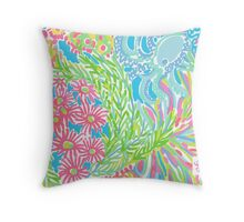 Lilly Pulitzer Lovers Coral  Throw Pillow