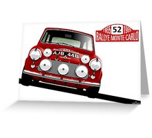 1965 Rallye Monte Carlo winner Greeting Card