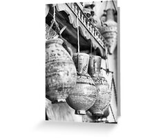 Ancient Hanging pottery Greeting Card