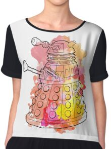 Dalek Watercolour Chiffon Top