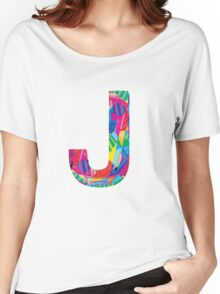 Fun Letter - J Women's Relaxed Fit T-Shirt