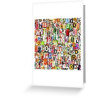 Letters Greeting Card