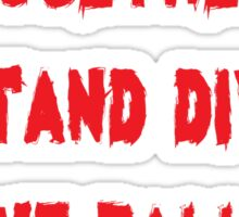 Inspirational Rock Song Lyrics Sticker