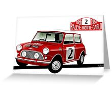 1966 Rallye Monte Carlo Greeting Card