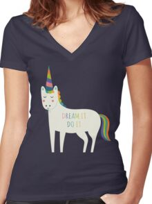 Dream It Do It Women's Fitted V-Neck T-Shirt