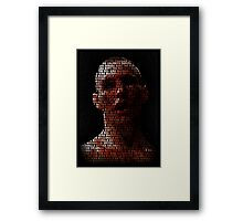 Rory Macdonald, The Red King (Superimposed) Framed Print
