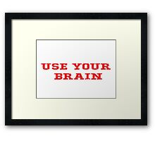 Geek Cool Red Motivational Saying Framed Print