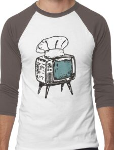 TV chef vintage television chef's hat pop culture Men's Baseball ¾ T-Shirt