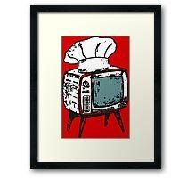 TV chef vintage television chef's hat pop culture Framed Print