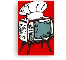 TV chef vintage television chef's hat pop culture Canvas Print