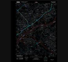 USGS TOPO Map New Jersey NJ Beverly 20110412 TM Inverted Unisex T-Shirt