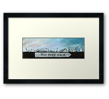 Ten Gulls Framed Print