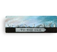 Ten Gulls Canvas Print