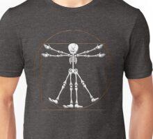 Vitruvian Man Skeleton Cartoon  Unisex T-Shirt