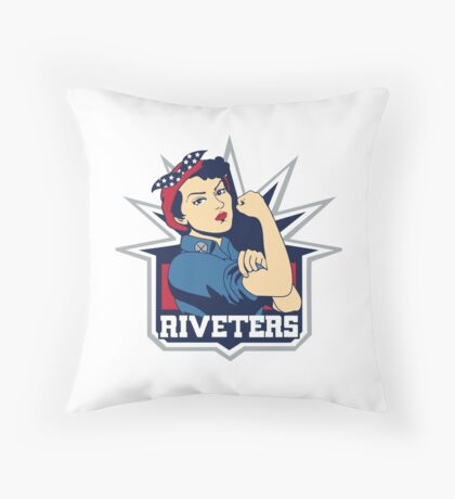 colombus blue jackets Throw Pillow