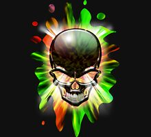 Crystal Skull on Psychedelic Flames Unisex T-Shirt