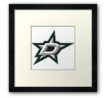 dallas stars Framed Print