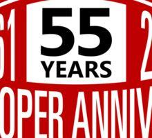 Mini Cooper 55 years anniversary Sticker