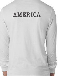 America, Typewriter, Font, Pure & Simple Long Sleeve T-Shirt