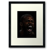 Jon Jones, Greatest Of All Time (SuperImposed) Framed Print