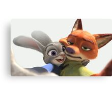 Selfie JUDY HOPPS and NICK WILDE Zootopia Canvas Print