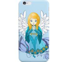 Cute praying Angel girl. Cartoon illustration iPhone Case/Skin