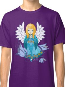 Cute praying Angel girl. Cartoon illustration Classic T-Shirt