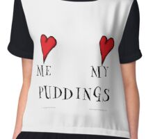 love me love my puddings, tony fernandes Chiffon Top