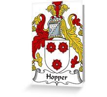 Hopper Coat of Arms / Hopper Family Crest Greeting Card