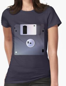 Floppy Disk Retro 8-bit Laptop Sticker Womens Fitted T-Shirt