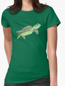 Sea turtle drawing - 2015 Womens Fitted T-Shirt