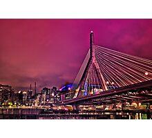 Zakim bridge, Boston MA Photographic Print