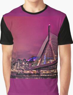 Zakim bridge, Boston MA Graphic T-Shirt